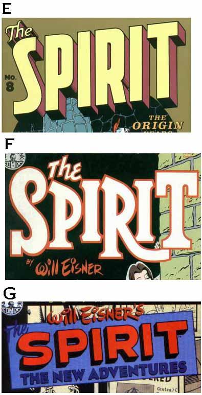 Spirit print logos E-G