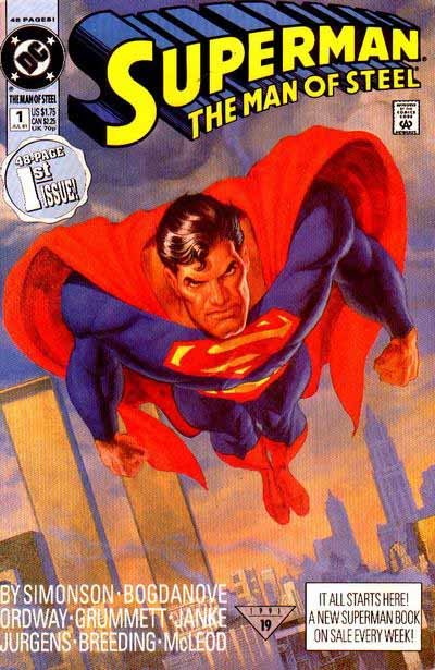 Superman The Man of Steel 1 cover