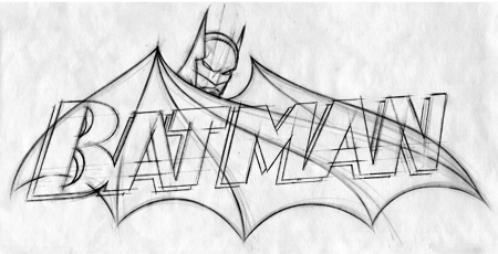 Batman logo sketch Chris Gardner