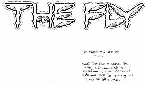 The Fly logo sketch