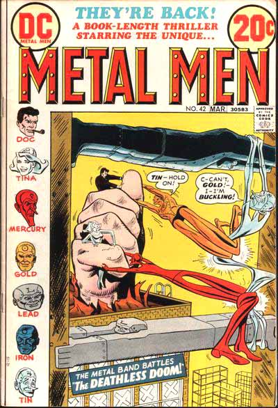 Metal Men 42 cover