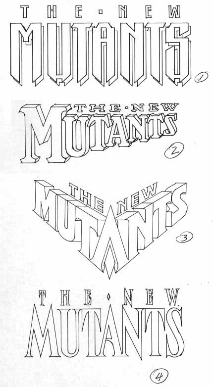 New Mutants sketches by Alex Jay