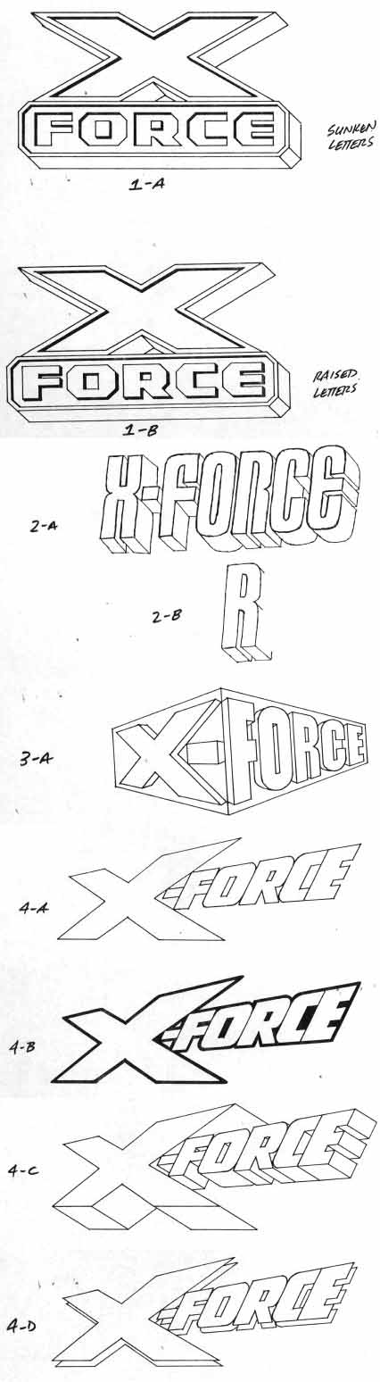 X-Force sketches by Alex Jay