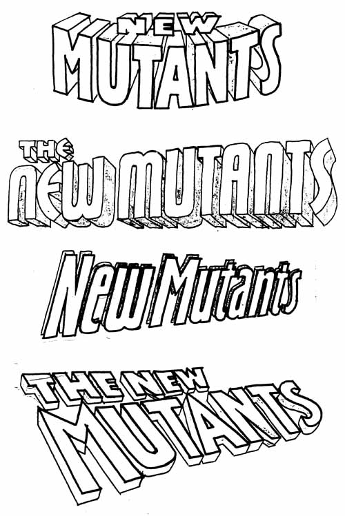 New Mutants sketches by Orzechowski