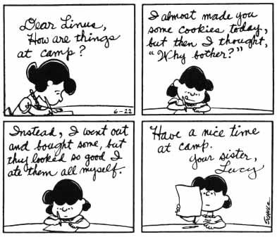 Peanuts strip 1966