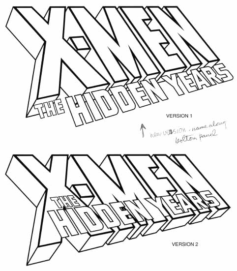 X-Men Hidden Years sketches by Todd