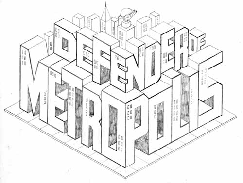 Defender of Metropolis pencils