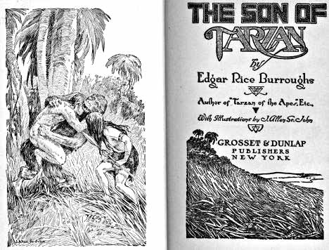 Son of Tarzan title pages