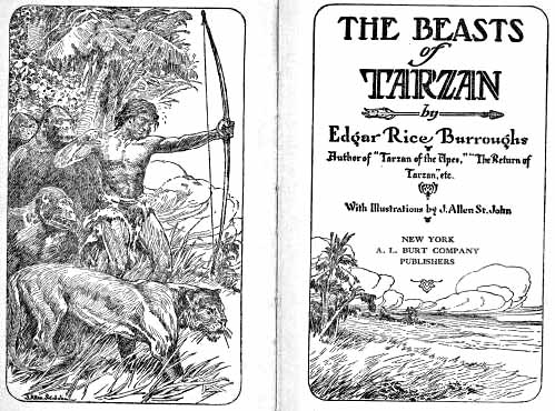 Beasts of Tarzan title pages