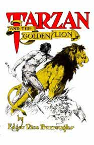 Tarzan and the Golden Lion dust jacket