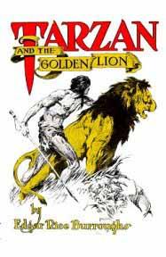 Tarzan and the Golden Lion dust jacket
