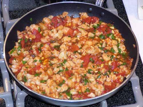 Penne Cauliflower sauce finished