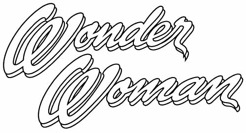 image gallery of wonder woman logo coloring pages - Wonder Woman Coloring Pages