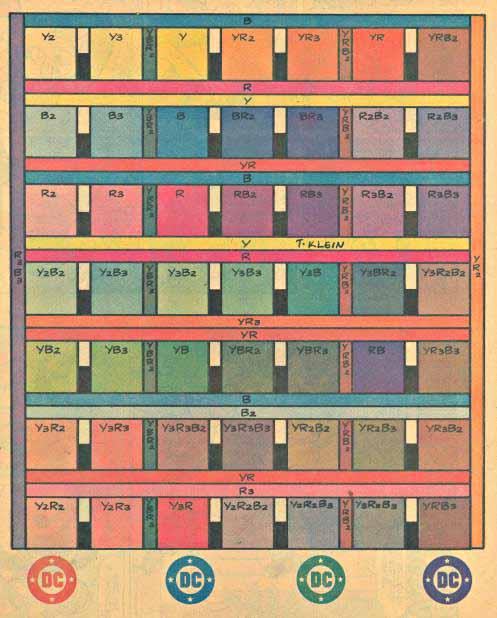 DC Colors on newsprint