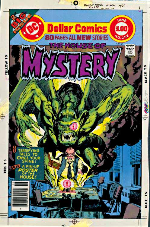 House of Mystery 252 color proof