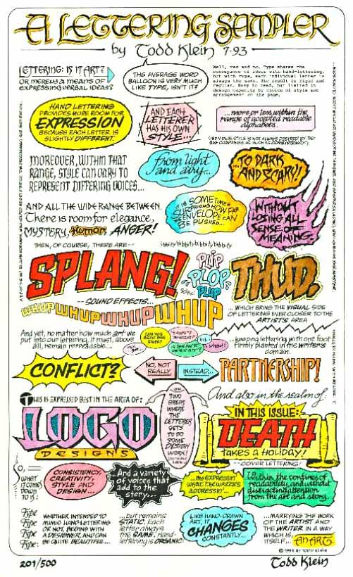 Lettering Sampler in color