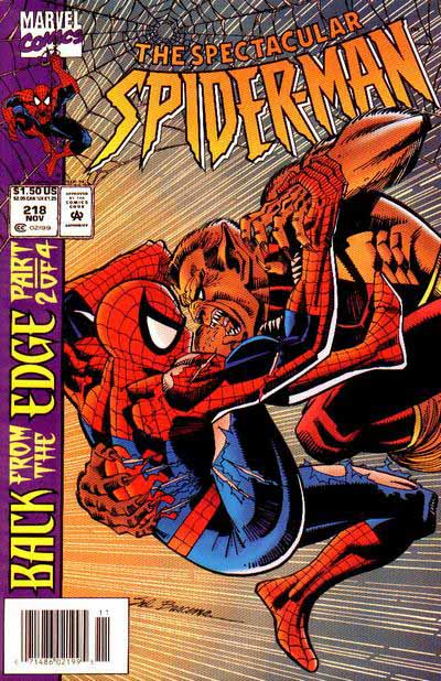 Spectacular Spider-Man 218 cover