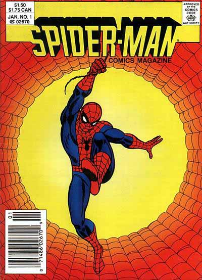 Spider-Man Comics Magazine 1 cover