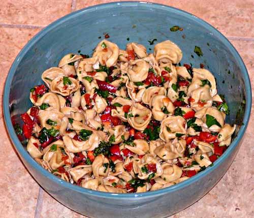 Basil Tortellini Salad