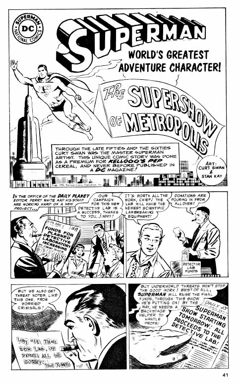 Superman story page