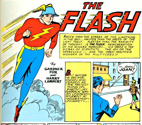 Flash Comics 1 interior logo