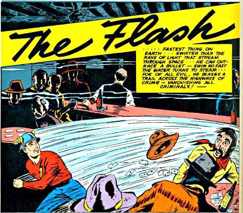 Flash Comics 13 inside logo