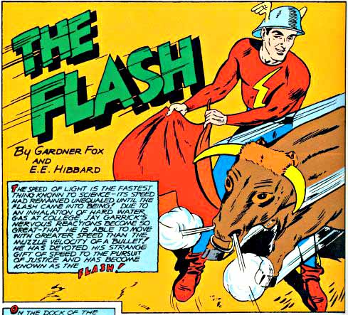 Flash Comics 16 inside logo