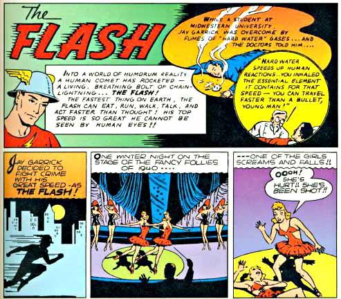 Flash Comics 2 inside logo