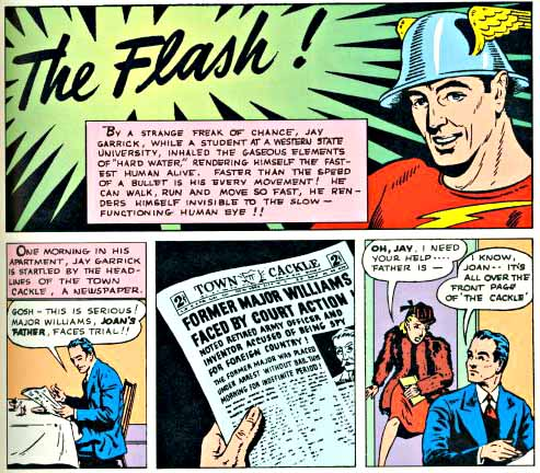 Flash Comics 3 inside logo