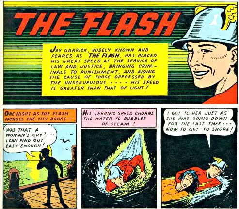 Flash Comics 4 inside logo