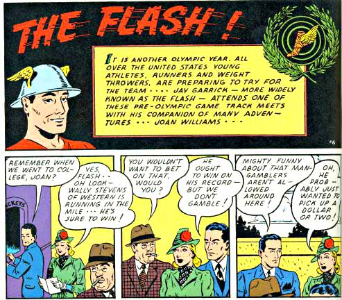 Flash Comics 6 inside logo