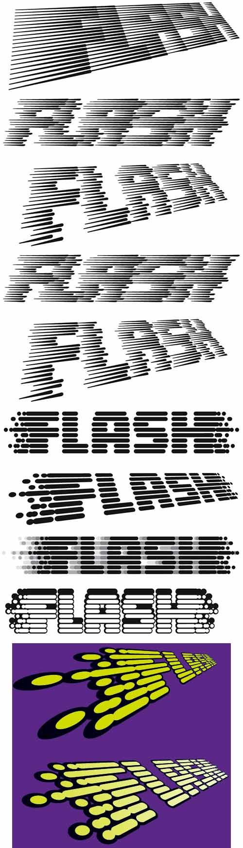 Flash logo versions by Hughes