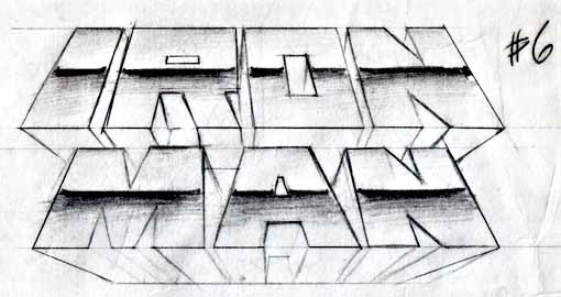 Iron Man logo Ken Lopez