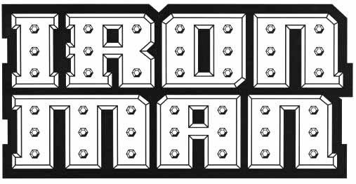 Iron Man logo Klein