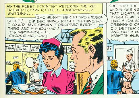 Panels from a Flash story 1956.