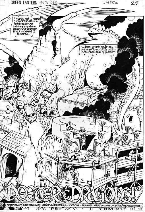 Green Lantern #171 Deeter & Dragons page 3 by Dave Gibbons and Todd Klein