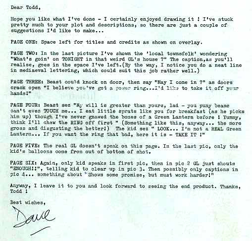 Dave Gibbons notes on Apprentice.