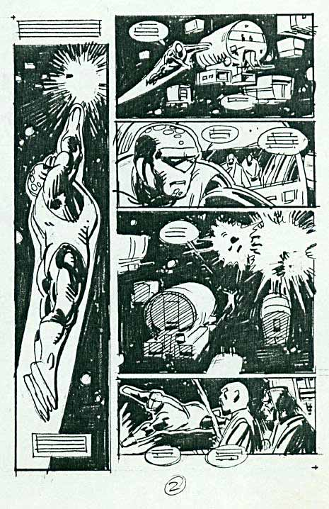 "Green Lantern Corps ""Hero"" layout by Dave Gibbons page 2"