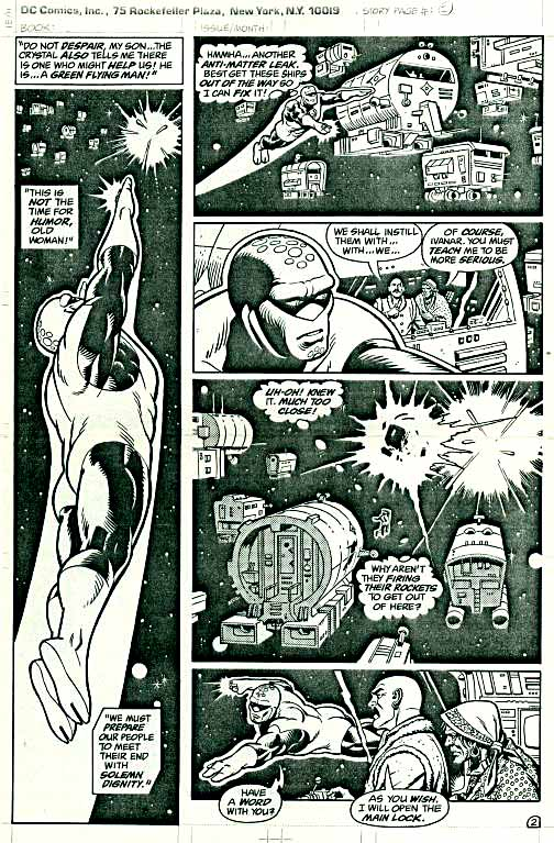 """Green Lantern Corps """"Hero"""" finished art by Dave Gibbons page 2."""