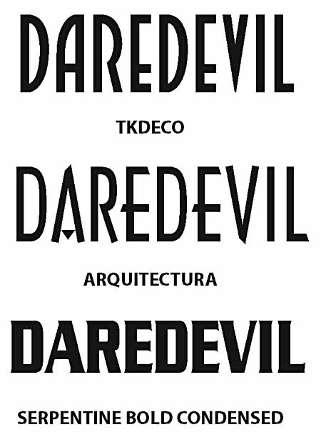Font samples