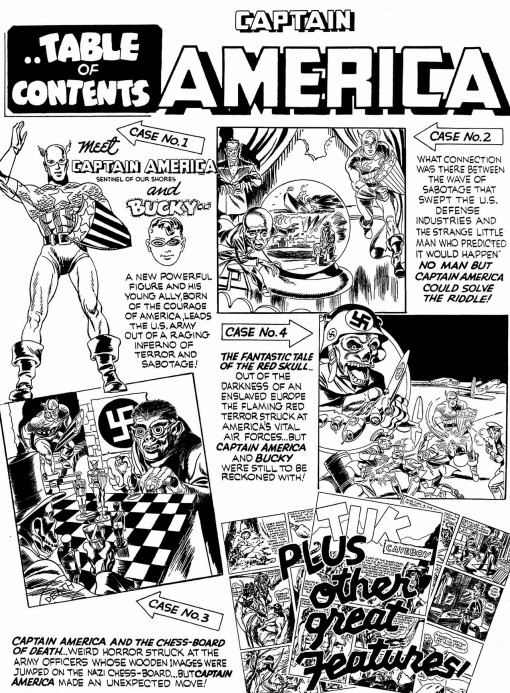 Captain America 1 inside front cover