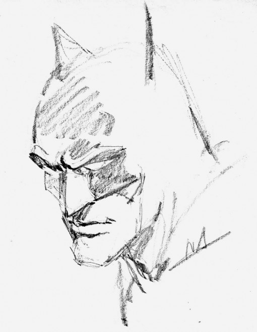 Batman sketch by Neal Adams.