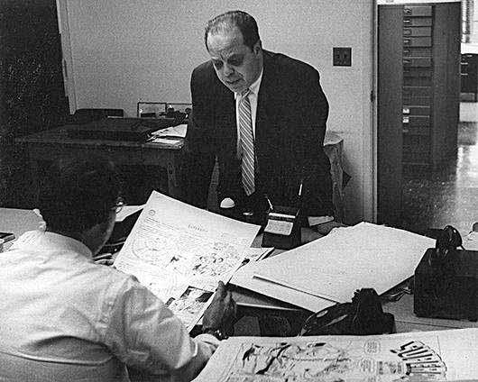 Larry Nadle at 575 Lexington offices.