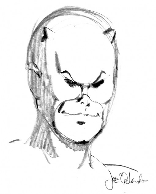 Daredevil sketch by Joe Orlando.