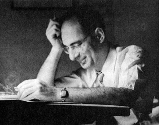 "Julius Schwartz by Jack Adler from Julie's book ""Man of Two Worlds."""