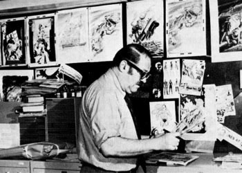 Jack Adler in the DC Production Department.