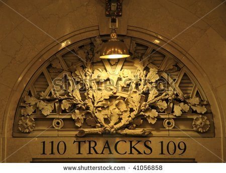 Track number at Grand Central Station, NYC.