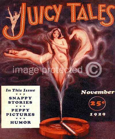 Juicy Tales pulp cover Nov. 1929