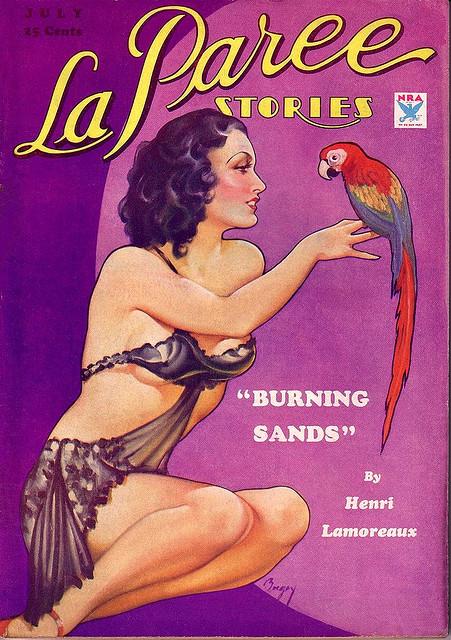 La Paree Stories pulp cover.