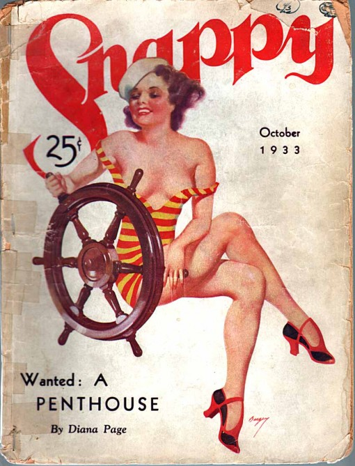 Snappy pulp cover Oct. 1933.
